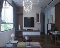 Thiết kế nội thất phòng khách chung cư Mandarin Garden 2 - Nội thất Jhome