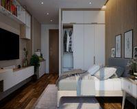 Thiết kế nội thất phòng ngủ chung cư Mandarin Garden 2 - Nội thất Jhome