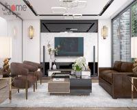 Thiết kế nội thất phòng khách nhà phố hiện đại - Nội thất Jhome