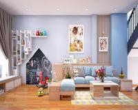 Thiết kế nội thất phòng khách nhà phố Lâm Du - Nội thất Jhome