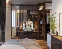 Thiết kế nội thất phòng ngủ master chung cư tòa L3 Ciputra - Nội thất Jhome