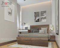 Thiết kế & thi công nội thất phòng ngủ master chung cư tòa nhà hỗn hợp Hoàng Quốc Việt