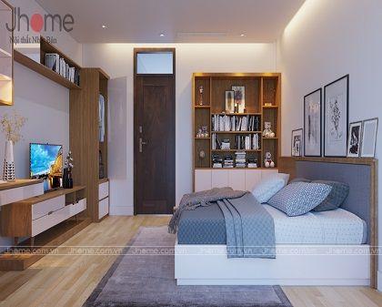 Thiết kế nội thất phòng ngủ con gái nhà phố Nguyễn Thị Định - Nội thất Jhome