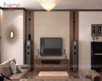 Thiết kế, thi công nội thất phòng khách chung cư Mipec Long Biên - Nội thất Jhome