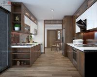 Thiết kế, thi công nội thất phòng bếp chung cư L3 Ciputra - Nội thất Jhome