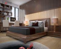 Những mẫu giường ngủ gỗ óc chó cao cấp, sang trọng - Nội thất Jhome
