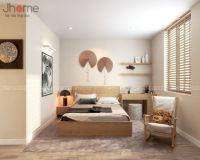 Thiết kế, thi công nội thất phòng ngủ chung cư D'le Pont D'or - Nội thất Jhome