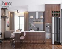 Thiết kế, thi công nội thất phòng khách chung cư G4 Five Star Garden - Nội thất Jhome