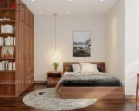 Thiết kế, thi công nội thất phòng ngủ ông bà chung cư New Skyline Văn Quán - Nội thất Jhome