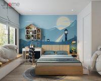 Thiết kế nội thất phòng ngủ con trai căn hộ tòa A2 chung cư Vinhomes Gardenia - Nội thất Jhome