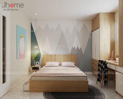 Thiết kế nội thất phòng ngủ con chung cư CT1 Thạch Bàn - Nội thất Jhome