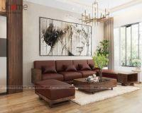 Những mẫu sofa phòng khách gỗ óc chó đẹp - Nội thất Jhome