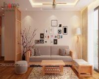Thiết kế nội thất phòng khách căn hộ tòa CT4 chung cư Vimeco - Nội thất Jhome