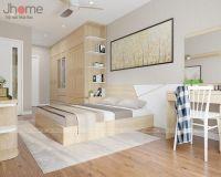 Thiết kế nội thất phòng ngủ master căn hộ tòa CT4 chung cư Vimeco - Nội thất Jhome
