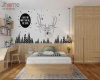 Thiết kế nội thất phòng ngủ con gái căn hộ tòa CT4 chung cư Vimeco - Nội thất Jhome