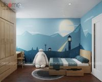 Thiết kế nội thất phòng ngủ con trai căn hộ tòa CT4 chung cư Vimeco - Nội thất Jhome
