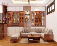 Thiết kế nội thất phòng khách chung cư I9 Thanh Xuân Bắc - Nội thất Jhome