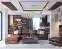 Thiết kế nội thất phòng khách căn penthouse phố Hoàng Ngân - Nội thất Jhome