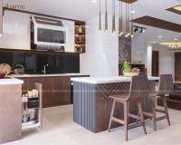 Thiết kế nội thất phòng bếp tầng 19 căn penthouse phố Hoàng Ngân - Nội thất Jhome