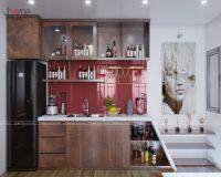 Thiết kế nội thất phòng bếp tầng 20 căn penthouse phố Hoàng Ngân - Nội thất Jhome