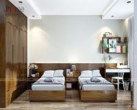 Thiết kế nội thất phòng ngủ ông bà căn penthouse phố Hoàng Ngân - Nội thất Jhome
