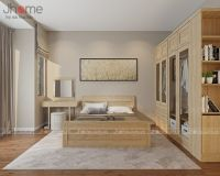 Thiết kế nội thất phòng ngủ nhà phố Nguyễn Phúc Lai - Nội thất Jhome
