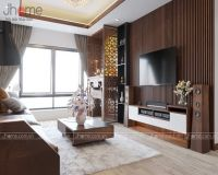 Thiết kế nội thất phòng khách chung cư Thăng Long Number One - Nội thất Jhome