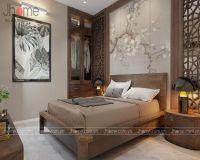 Thiết kế nội thất phòng ngủ chung cư Thăng Long Number One - Nội thất Jhome