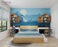 Thiết kế nội thất phòng ngủ con chung cư Goldmark City - Nội thất Jhome