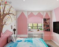 Thiết kế nội thất phòng ngủ con gái chung cư CT34T Hoàng Đạo Thúy - Nội thất Jhome