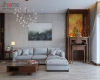 Thiết kế nội thất phòng khách chung cư Victoria Văn Phú - Nội thất Jhome
