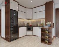 Thiết kế nội thất phòng bếp chung cư Victoria Văn Phú - Nội thất Jhome
