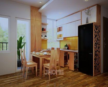 Thiết kế nội thất phòng bếp chung cư ở Hoàng Văn Thái - Nội thất jhome