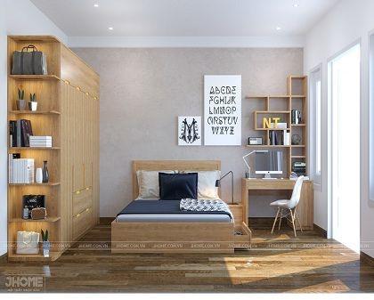 Thiết kế nội thất phòng ngủ nhà phố Chùa Láng - Nội thất Jhome