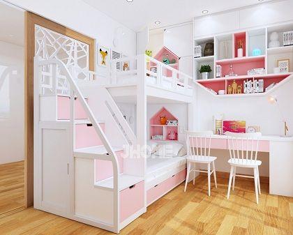 Thiết kế nội thất phòng ngủ trẻ em chung cư Times City - Nội thất Jhome