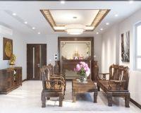 Thiết kế nội thất phòng khách chung cư 60 Hoàng Quốc Việt - Nội thất Jhome