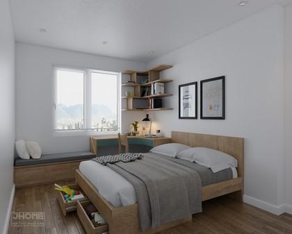 Thiết kế nội thất phòng ngủ con chung cư Học viện Kỹ thuật Quân sự - Nội thất Jhome