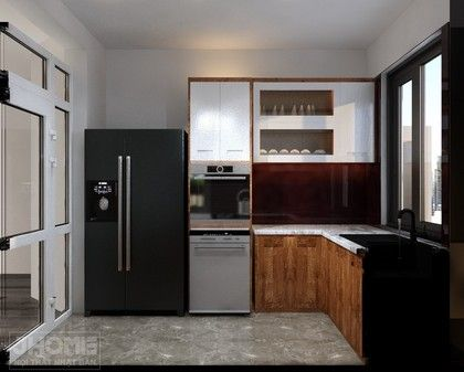 Thiết kế nội thất phòng bếp chung cư 17T5 Hoàng Đạo Thúy - Nội thất Jhome