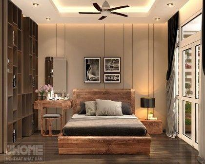 Thiết kế nội thất phòng ngủ chung cư 17T5 Hoàng Đạo Thúy - Nội thất Jhome