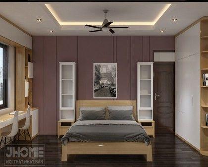 Thiết kế nội thất phòng ngủ con gái chung cư 17T5 Hoàng Đạo Thúy - Nội thất Jhome