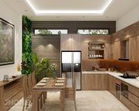 Thiết kế nội thất phòng bếp nhà biệt thự Vĩnh Yên - Vĩnh Phúc - Nội thất Jhome