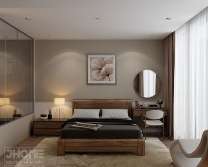 Thiết kế nội thất phòng ngủ master nhà biệt thự Vĩnh Yên - Vĩnh Phúc - Nội thất Jhome