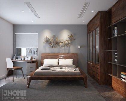 Thiết kế nội thất phòng ngủ nhà biệt thự Vĩnh Yên - Vĩnh Phúc - Nội thất Jhome