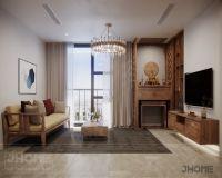 Thiết kế nội thất phòng khách chung cư Hoàng Cầu - Nội thất Jhome