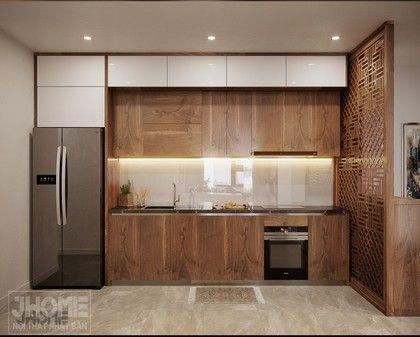 Thiết kế nội thất phòng bếp chung cư Hoàng Cầu - Nội thất Jhome