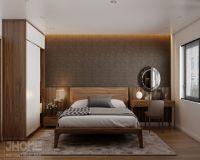Thiết kế nội thất phòng ngủ master chung cư Hoàng Cầu - Nội thất Jhome