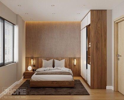 Thiết kế nội thất phòng ngủ chung cư Hoàng Cầu - Nội thất Jhome