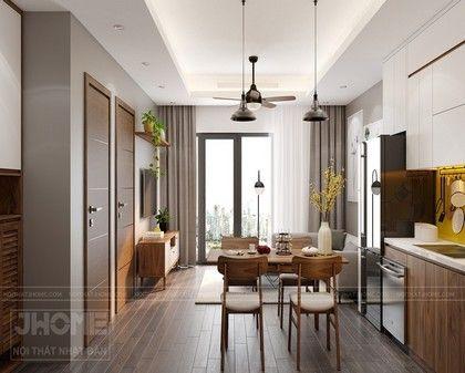 Thiết kế nội thất phòng khách chung cư Thụy Khuê - Nội thất Jhome
