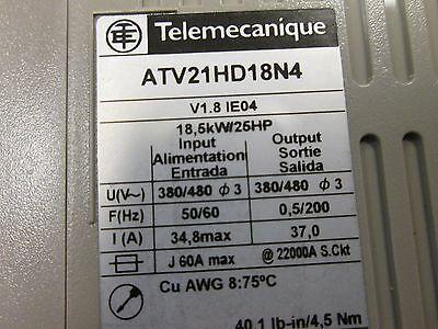 Telemecanique-Altivar-21-Speed-Controller-ATV21HD18N4-25HP-Used-_1