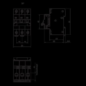 MCB PANASONIC DIN BD- 63- 3P ~415VAC 6KA 6A
